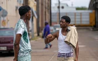 "(L-R): Keith Machekanyanga as Little Mo, Lamar Johnson as Kofi Jones and Christopher Winchester as Dwayne in YOUR HONOR, ""Part Two"". Photo Credit: Skip Bolen/SHOWTIME."
