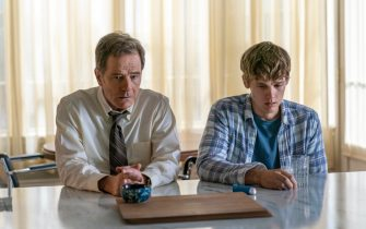 "(L-R): Bryan Cranston as Michael Desiato and Hunter Doohan as Adam Desiato in YOUR HONOR, ""Part Two"". Photo Credit: Skip Bolen/SHOWTIME."