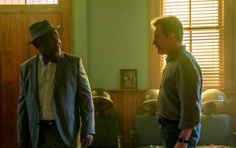 """(L-R): Isiah Whitlock Jr. as Charlie and Bryan Cranston as Michael Desiato in YOUR HONOR, """"Part Three"""". Photo Credit: Skip Bolen/SHOWTIME."""