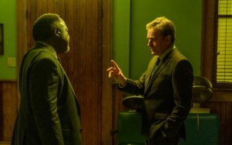 """(L-R): Isiah Whitlock Jr as Charlie Figaro and Bryan Cranston as Michael Desiato in YOUR HONOR, """"Part Four"""". Photo Credit: Skip Bolen/SHOWTIME."""