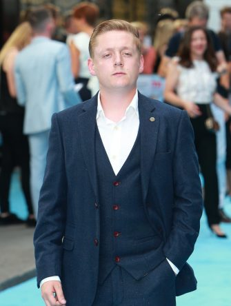 LONDON, UNITED KINGDOM - JULY 04: Thomas Turgoose attend the 'Swimming With Men' UK Premiere at The Curzon Mayfair on July 4, 2018 in London, England.  PHOTOGRAPH BY Jamy / Barcroft Images (Photo credit should read Jamy / Barcroft Media via Getty Images)