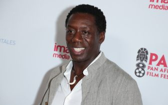"""LOS ANGELES, CALIFORNIA - FEBRUARY 11: Hakeem Kae-Kazim attends 28th Annual Pan African Film and Arts Festival - Opening Night premiere of """"HERO"""" at Directors Guild Of America on February 11, 2020 in Los Angeles, California. (Photo by Leon Bennett/Getty Images)"""