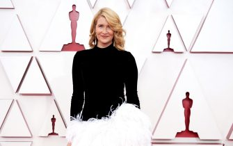 LOS ANGELES, CALIFORNIA â   APRIL 25: (EDITORIAL USE ONLY) In this handout photo provided by A.M.P.A.S., Laura Dern attends the 93rd Annual Academy Awards at Union Station on April 25, 2021 in Los Angeles, California. (Photo by Matt Petit/A.M.P.A.S. via Getty Images)