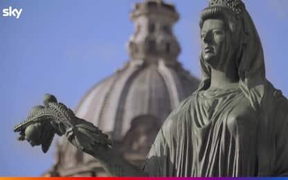 Domina, la statua di Livia Drusilla ai Fori Imperiali. VIDEO