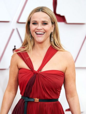 LOS ANGELES, CALIFORNIA â   APRIL 25: (EDITORIAL USE ONLY) In this handout photo provided by A.M.P.A.S., Reese Witherspoon attends the 93rd Annual Academy Awards at Union Station on April 25, 2021 in Los Angeles, California. (Photo by Matt Petit/A.M.P.A.S. via Getty Images)