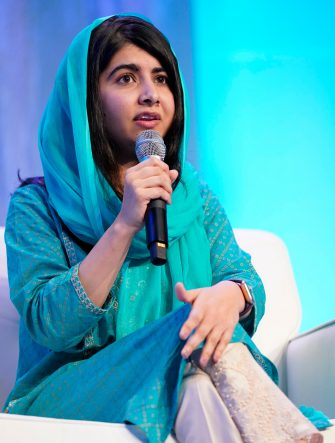 BOSTON, MASSACHUSETTS - DECEMBER 12: Co-founder of Malala Fund and a Nobel Laureate Malala Yousafzai speaks on stage at Massachusetts Conference For Women 2019 at Boston Convention Center on December 12, 2019 in Boston, Massachusetts. (Photo by Marla Aufmuth/Getty Images for Massachusetts Conference for Women 2019)