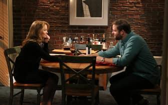 "PARENTHOOD -- ""Cold Feet"" Episode 520 -- Pictured: (l-r) Erika Christensen as Julia Braverman-Graham, David Denman as Ed Brooks -- (Photo by: Danny Feld/NBC)"