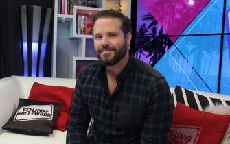 LOS ANGELES, CA - January 14 : (EXCLUSIVE COVERAGE) David Denman visits the Young Hollywood Studio on January 14, 2016 in Los Angeles, California. (Photo by Mary Clavering/Young Hollywood/Getty Images)
