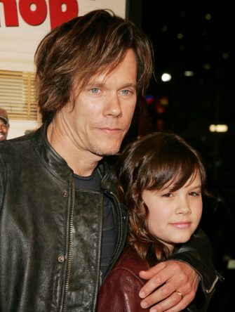 Kevin Bacon and daughter Sosie at the Mann National Premiere in Westwood, California (Photo by John Shearer/WireImage)