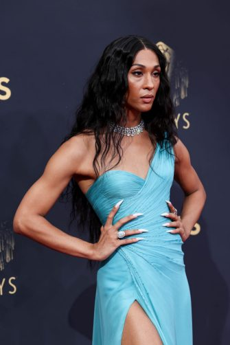 Los Angeles, CA - September 19:      Michaela Jaé Rodriguez attends the 73rd Primetime Emmy Awards at L.A. Live on Sunday, Sept. 19, 2021 in Los Angeles, CA.  (Jay L. Clendenin / Los Angeles Times via Getty Images)