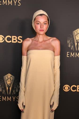 LONDON, ENGLAND - SEPTEMBER 19: Emma Corrin attends the Netflix celebration of the 73rd Emmy Awards at 180 The Strand on September 19, 2021 in London, England. (Photo by David M. Benett/Dave Benett/Getty Images for Netflix)