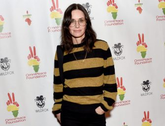 """LOS ANGELES, CA - NOVEMBER 04:  Courteney Cox attends Omnipeace 2nd Annual Gala """"Rwanda Rocks"""" Charity Event at Vibrato Jazz Grill on November 4, 2019 in Los Angeles, California.  (Photo by Gregg DeGuire/Getty Images)"""