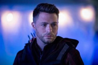 """Arrow -- """"Star City 2040"""" -- Image Number: AR716a_0500b.jpg -- Pictured: Colton Haynes as Roy Harper/Arsenal -- Photo: Jack Rowand/The CW -- à 'à © 2019 The CW Network, LLC. All Rights Reserved."""