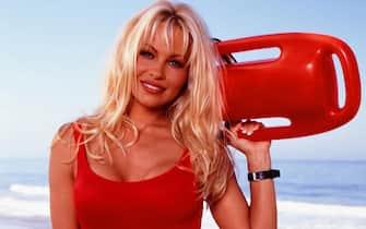 Telefilm - Baywatch. Foto di scena. Nella foto, Pamela Anderson.