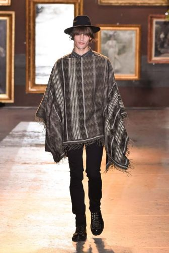 MILAN, ITALY - JANUARY 12: A model walks the runway at the Etro fashion show on January 12, 2020 in Milan, Italy. (Photo by Pietro D'aprano/Getty Images)