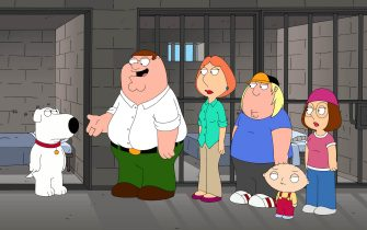 """FAMILY GUY: Brian gets thrown in the slammer in the """"420"""" episode of FAMILY GUY airing Sunday, April 19 (9:00-9:30 PM ET/PT) on FOX.  FAMILY GUY ™ and © 2009 TTCFFC ALL RIGHTS RESERVED."""