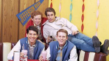 UNITED STATES - JANUARY 07:  HAPPY DAYS - Gallery - Season One - 1/7/74 - Anson Williams, Ron Howard, Donny Most, Henry Winkler  (Photo by Walt Disney Television via Getty Images Photo Archives/Walt Disney Television via Getty Images)