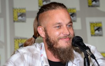 """SAN DIEGO, CA - JULY 19:  Actor Travis Fimmel attends a panel for the History series """"Vikings"""" during Comic-Con International 2013 at the San Diego Convention Center on July 19, 2013 in San Diego, California.  (Photo by Ethan Miller/WireImage)"""