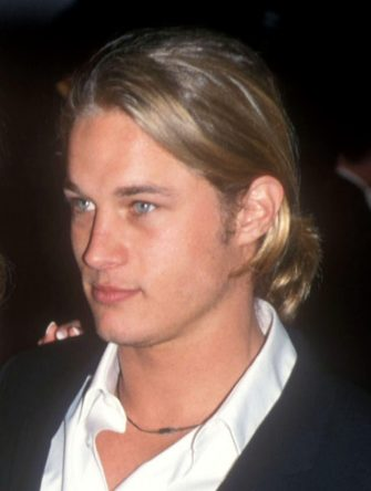 Travis Fimmel during 2002 Vanity Fair Oscar Party Hosted by Graydon Carter - Arrivals at Mortons Restaurant in Beverly Hills, California, United States. (Photo by Barry King/WireImage)