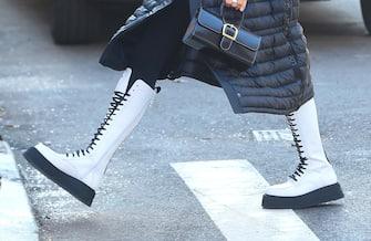 NEW YORK, NY - DECEMBER 11:  Model Irina Shayk is walking SoHo on December 11, 2020 in New York City.  (Photo by Raymond Hall/GC Images)