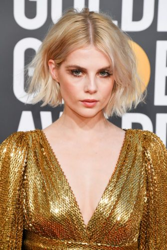 BEVERLY HILLS, CALIFORNIA - JANUARY 06: Lucy Boynton attends the 76th Annual Golden Globe Awards held at The Beverly Hilton Hotel on January 06, 2019 in Beverly Hills, California. (Photo by George Pimentel/WireImage)