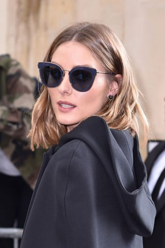 PARIS, FRANCE - SEPTEMBER 26:  Olivia Palermo is seen arriving at Dior fashion show during Paris Fashion Week Womenswear Spring/Summer 2018 on September 26, 2017 in Paris, France.  (Photo by Jacopo Raule/Getty Images)