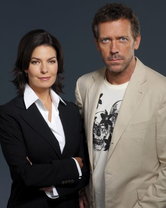 HOUSE -- NBC Universal Television -- Pictured: (l-r) Sela Ward as Stacy Warner, Hugh Laurie as Dr. Greg House -- NBC Universal Photo
