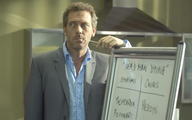 HOUSE:  House (Hugh Laurie) debates the symptoms and causes of a death row inmate (guest star LL Cool J) who is stricken with a mysterious disease in the season premiere episode of HOUSE airing Tuesday, September 13 (9:00-10:00 PM ET/PT) on FOX.  ª©2005 FOX BROADCASTING COMPANY.  Cr:  Jamie Trueblood/FOX.
