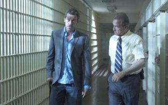 HOUSE:  House (Hugh Laurie, L) agrees to treat a death row inmate (guest star LL Cool J) who is stricken with a mysterious disease in the season premiere episode of HOUSE airing Tuesday, September 13 (9:00-10:00 PM ET/PT) on FOX.  Also pictured:  Marshall Bell (R).  ª©2005 FOX BROADCASTING COMPANY.  Cr:  Jamie Trueblood/FOX.