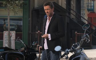 """HOUSE:  House (Hugh Laurie) tries to get a good deal on a motorcycle in the HOUSE episode """"Autopsy"""" airing Tuesday, Sept. 20 (9:00-10:00 PM ET/PT) on FOX.  ª©2005 Fox Broadcasting Co.  Cr:  Dean Hendler/FOX."""