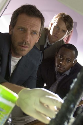 """HOUSE:  House (Hugh Laurie, L) takes Chase (Jesse Spencer, C) and Foreman (Omar Epps, R) out of the hospital to investigate a patients personal life in the HOUSE episode """"Humpty Dumpty"""" airing Tuesday, Sept. 27 (9:00-10:00 PM ET/PT) on FOX.  ª©2005 Fox Broadcasting Co.  Cr:  Jaimie Trueblood/FOX."""