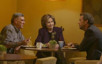 """HOUSE:  Although he tried to avoid them, House (Hugh Laurie, R) spends some time with his parents (R. Lee Ermey and Diane Baker) in the HOUSE episode """"Daddy's Boy"""" airing Tuesday, Nov. 8 (9:00-10:00 PM ET/PT) on FOX.  ª©2005 Fox Broadcasting Co.  Cr:  Jaimie Trueblood/FOX."""