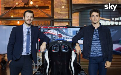 EPCC Live, Alessandro Cattelan guida in pista con Charles Leclerc