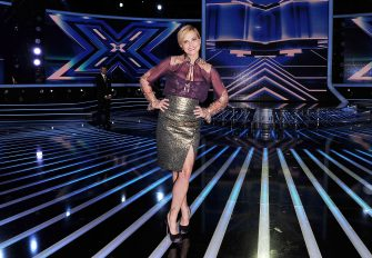MILAN, ITALY - OCTOBER 25:  Simona Ventura attends 'X Factor' Italian TV Show held at Teatro della Luna on October 25, 2012 in Milan, Italy.  (Photo by Stefania D'Alessandro/Getty Images)