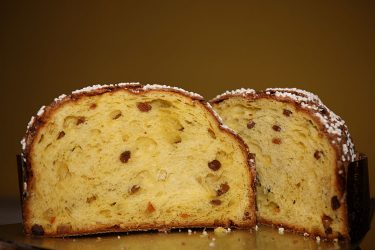 """MILAN, ITALY - NOVEMBER 22: A general display of the Italian national christmas cake """"King Panettone"""" at the Litta Theatre on November 22, 2008 in Milan, Italy. (Photo by Vincenzo Lombardo/Getty Images)"""