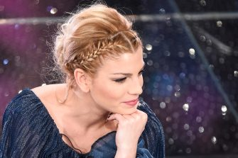 SANREMO, ITALY - FEBRUARY 13:  Emma Marrone attends the Fourth night of 65th Festival di Sanremo 2015 at Teatro Ariston on  on February 13, 2015 in Sanremo, Italy.  (Photo by Venturelli/Getty Images)