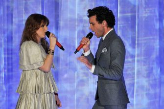 MILAN, ITALY - DECEMBER 07:  (L-R) Chiara Galiazzo and Mika perform at 'X Factor' Italian TV Show Final on December 7, 2012 in Milan, Italy.  (Photo by Stefania D'Alessandro/Getty Images)