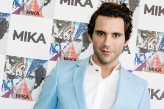"""MILAN, ITALY - OCTOBER 03: Singer and showman Mika attends the presentation of Mika new album """"My Name is Michael Holbrook"""" on October 03, 2019 in Milan, Italy. (Photo by Rosdiana Ciaravolo/Getty Images)"""