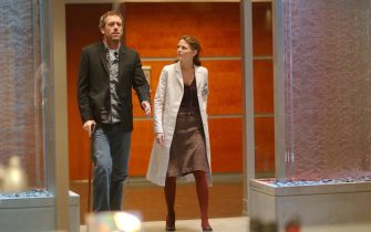 """HOUSE:  House (Hugh Laurie, L) and Cameron (Jennifer Morrison, R) uncover a deeper secret when a supermodel comes in to the hospital for drug addiction in the HOUSE episode """"Skin Deep"""" airing Monday, Feb. 20 (8:00-9:00 PM ET/PT) on FOX.  ©2006 Fox Broadcasting Co.  Cr:  Richard Foreman/FOX"""