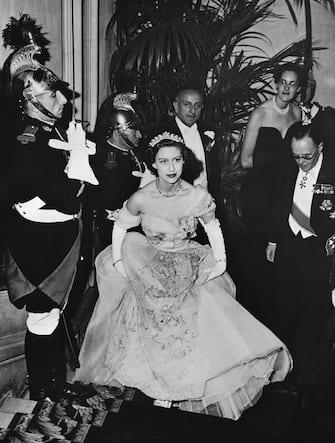 France Paris Princess Margaret and Oliver Harvey