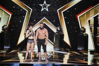 AMERICA'S GOT TALENT: THE CHAMPIONS -- VTR 2 -- Pictured: Duo Transcend -- (Photo by: Trae Patton/NBC)