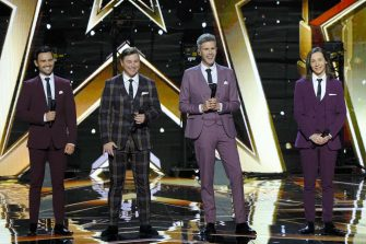 """AMERICA'S GOT TALENT: THE CHAMPIONS -- """"The Champions Two"""" Episode 201 -- Pictured: Collabro -- (Photo by: Trae Patton/NBC)"""