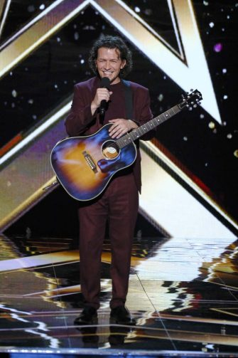 """AMERICA'S GOT TALENT: THE CHAMPIONS -- """"The Champions Three"""" Episode 203 -- Pictured: Michael Grimm -- (Photo by: Trae Patton/NBC)"""