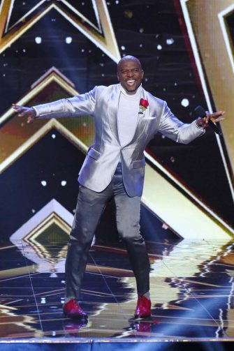 """AMERICA'S GOT TALENT: THE CHAMPIONS -- """"The Champions Three"""" Episode 203 -- Pictured: Terry Crews -- (Photo by: Trae Patton/NBC)"""