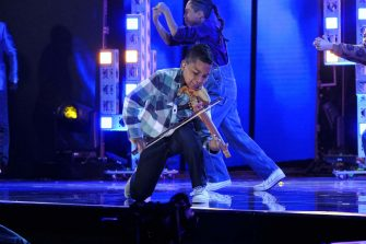 """AMERICA'S GOT TALENT: THE CHAMPIONS -- """"The Champions Three"""" Episode 203 -- Pictured: Tyler Butler-Figueroa -- (Photo by: Trae Patton/NBC)"""