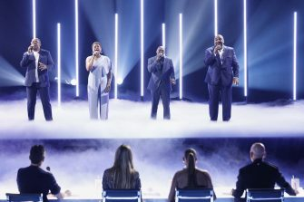 """AMERICA'S GOT TALENT: THE CHAMPIONS -- """"The Champions Four"""" Episode 204 -- Pictured: Voices of Service -- (Photo by: Trae Patton/NBC)"""