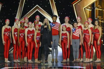 """AMERICA'S GOT TALENT: THE CHAMPIONS -- """"The Champions Four"""" Episode 204 -- Pictured: Silhouettes -- (Photo by: Trae Patton/NBC)"""