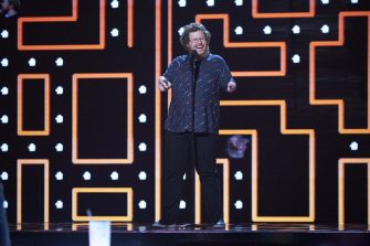 """AMERICA'S GOT TALENT: THE CHAMPIONS -- """"The Champions Semi Finals"""" Episode 205 -- Pictured: Ryan Niemiller -- (Photo by: Tina Thorpe/NBC)"""