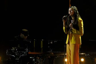"""AMERICA'S GOT TALENT: THE CHAMPIONS -- """"The Champions Finals"""" Episode 206 -- Pictured: Angelina Jordan -- (Photo by: Trae Patton/NBC)"""