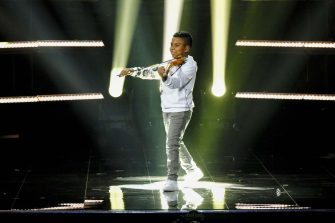 """AMERICA'S GOT TALENT: THE CHAMPIONS -- """"The Champions Finals"""" Episode 206 -- Pictured: Tyler Butler-Figueroa -- (Photo by: Trae Patton/NBC)"""